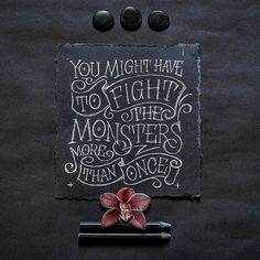 Fight the monsters by @abedazarya - Daily typography & lettering design love ❤️ - typostrate - typostrate.com