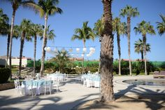 Oceana Terrace reception area wide view #DreamsLosCabos #Mexico #Destinationwedding