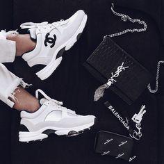 12 Trending Sneakers New Year 2019 Stunning And Cool – 12 trendige Turnschuhe Neujahr 2019 Atemberaubend und cool – # # Atemberaubend Chanel Sneakers, Sneakers Fashion, Fashion Shoes, Sneakers Nike, Chanel Tennis Shoes, Nike Fashion, Balenciaga Sneakers, Girls Sneakers, Ladies Fashion