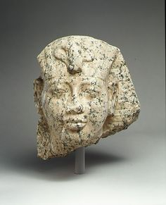 Amenhotep III with nemes headdress  Date: ca. 1390-1353 B.C.  Thebes, Deir el-Bahri, MMA 1922-1923  Accession Number: 23.3.170