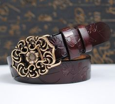 Fashion Real leather belt women strap famous brand designer