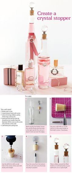 #DIY Create a crystal stopper for various size bottles