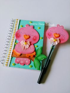Crafts For Teens, Crafts To Make, Arts And Crafts, Book Cover Design, Book Design, Foam Crafts, Paper Crafts, File Decoration Ideas, Pencil Toppers