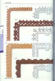 Watch This Video Beauteous Finished Make Crochet Look Like Knitting (the Waistcoat Stitch) Ideas. Amazing Make Crochet Look Like Knitting (the Waistcoat Stitch) Ideas. Crochet Border Patterns, Crochet Boarders, Crochet Lace Edging, Crochet Diagram, Crochet Chart, Thread Crochet, Crochet Designs, Crochet Doilies, Diagram Chart