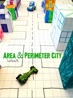 Cool STEM architecture project with this geometry (area, perimeter, volume) city  via @karyntripp