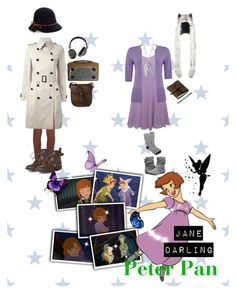 """Jane Darling  Peter Pan: Return to Neverland"" by sasukeuchiha2498 on Polyvore featuring Rare London, Report, Rustico, J.Crew, Burberry, Genie by Eugenia Kim, Dorothy Perkins, DUBARRY, Master & Dynamic and Pixie"
