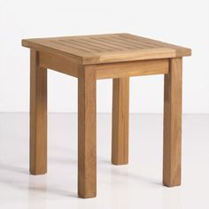 Classic Teak Square Side Table
