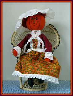 Linda Walsh Originals Dolls and Crafts Blog: It's That Time Of The Year - For The Love Of Pumpkins and Scarecrows