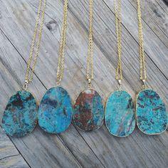 New Ocean Agate Necklaces www.LunaSavita.com #rawcrystals #crsytal #crystals #crystalsofig #etsy #etsyseller #etsyshop #etsyjewelry #jewelry #longnecklace #style #ootd #necklace #gold #goldnecklace #luna #lunasavita #wear #handmadewithlove #picoftheday #shopsmall #smallbusiness #productshot #supporthandmade #ocean #oceanagate #blue