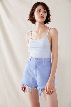 Shop Urban Renewal Recycled Overdyed Denim Short at Urban Outfitters today. We carry all the latest styles, colors and brands for you to choose from right here. Haircut For Thick Hair, Short Hair With Bangs, Short Hair Cuts, Hair Bangs, Hair Updo, Fancy Hairstyles, Trending Hairstyles, Hairstyles With Bangs, Short Bob Hairstyles