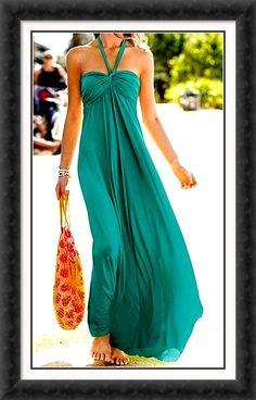 Love long dresses for summer