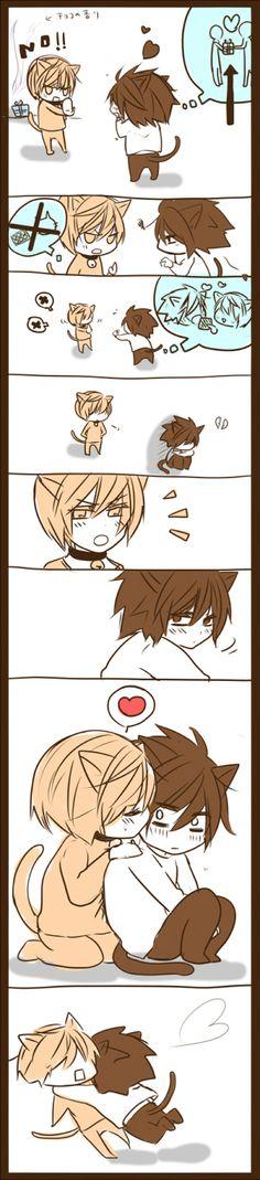 Valentine L Cat by はなお - Death Note - L /  Yagami