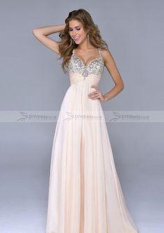 a-line/princess spaghetti strap beading zipper back floor-length prom dresses - Google Search