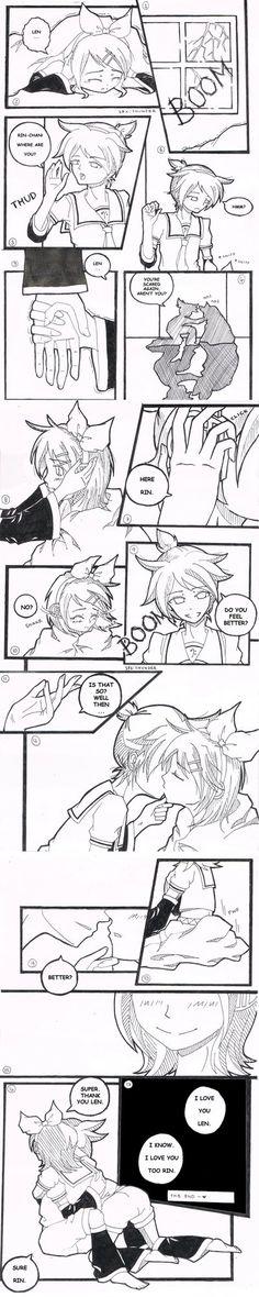 Kagamine Rin x Len cute