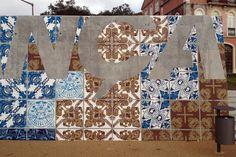 Diogo Machado   Add Fuel   STREET & ART   Mural - Herança Viva by Add Fuel, Street Art, Inspiration, Ceramic Tile, Blue Porcelain, Art h-a-l-e.com