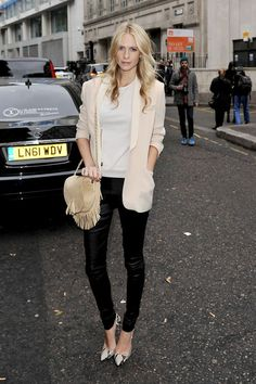 Poppy Delevigne is gorgeous and love her outfit here
