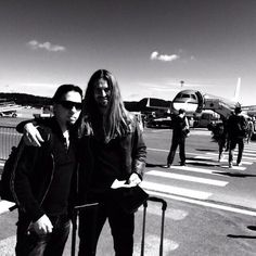 Coming back from #SwedenRockFestival 2014. Casey Grillo (drums) & Oliver Palotai (keys) #Kamelot