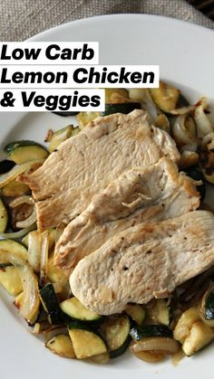 Easy Lemon Chicken Recipe, Low Carb Chicken Recipes, Healthy Eating Recipes, Healthy Cooking, Veggie Recipes, Low Carb Recipes, Dinner Recipes, Cooking Recipes, Healthy Food