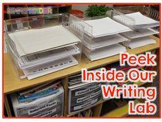 A Peek Inside My Writing Lab - Simply Kinder Writing Lab, Work On Writing, Picture Writing Prompts, Writing Workshop, Teaching Writing, Writing Activities, Teaching Ideas, Writing Ideas, Writing Station