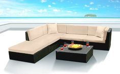Outdoor Wicker Furniture New All Weather Patio Deep Seating Sectional Sofa Set Outdoor Wicker Furniture, Patio Furniture Sets, Sectional Furniture, Sectional Sofa, Couch Set, Outdoor Sectional, Weather, Deep, Patio Ideas