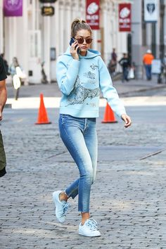 Gigi Hadid's Guide to Staying Comfortable and Fashionable via @WhoWhatWear