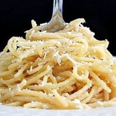 My interpretation of my favorite Spaghetti Factory dish. - Spaghetti with Browned Butter and Mizithra Cheese