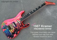 1987 Kramer Stagemaster Custom guitar Dennis Kline graphic