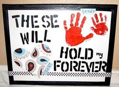 Handprint art to make with kids for gifts
