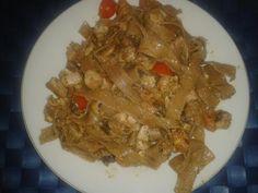 Receta Siciliana: Tagliatelle con Atún, Setas y Pesto de Pistacho :)