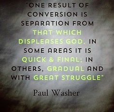 Washer: separation from that which displeases God.