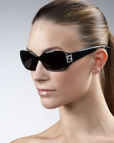 7f5b459c7e Crystal-FF Temple Sunglasses by Fendi at Neiman Marcus. Neiman Marcus  Jewelry