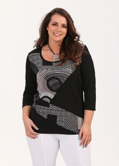 Plus Size Outfits – Plus Size Apparel and Tops Online at TS14 Plus - FRAPPE EXPRESS TOP - TS14