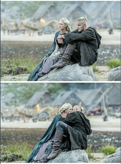 Björn (Alexander Ludwig) and Georgia Hirst as Torvi - Fangirl - Vikings