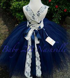 Vintage Ivory Lace Flower Girl Dress Wedding by Baby2BNashville