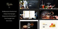 Resto is a beautiful and very attractive, polished and professional, robust and easy to use, highly responsive WordPress restaurant, bakery, coffee and pizza website theme. Resto has been crafted b...