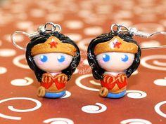 Wonder Woman Earrings by KBelleC.deviantart.com