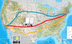 Moving Cross Country: Which is the Best Driving Route for Your Move?    Methinks I will be glad i pinned this. Moving Across Country Tips, Moving Cross Country, Driving Across Country, Road Trip Cross Country, Country Roads, Cross Country Movers, Driving Tips, Road Trippin, West Coast Road Trip