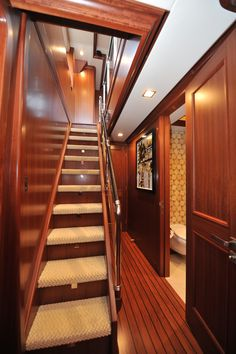 Nordhavn 120-Upper Deck Foyer-Custom Yacht Interior Design-Destry Darr Designs