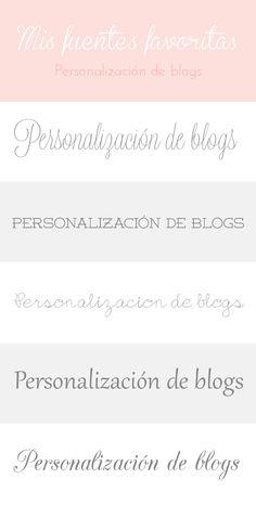 Personalización de Blogs: Blog con consejos y trucos para blogueras: Mis 20 fuentes gratis preferidas