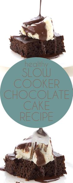 This really is the best low carb chocolate cake recipe, and you make it right in your slow cooker! Easy Grain-Free Keto Banting THM recipe.  via @dreamaboutfood