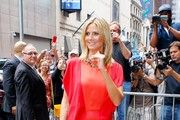 "Heidi Klum arrives at ""Good Morning America"" amidst cheating allegations from soon to be ex-husband Seal"