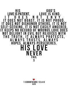 1 Corinthians 13:4-8
