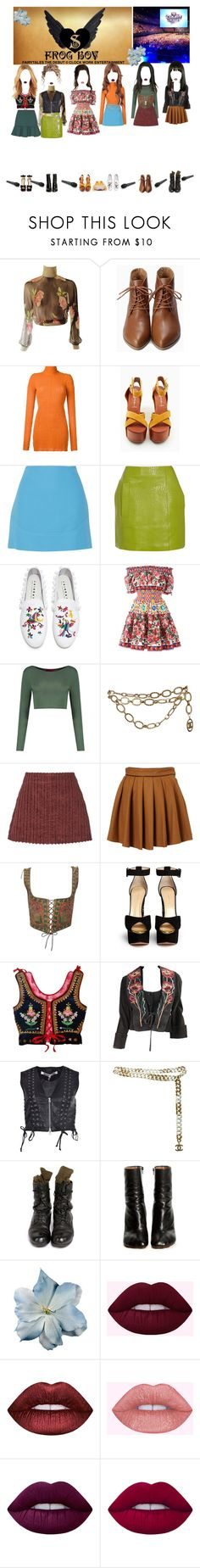 """""""«MCOUNTDOWN» SAINTS DEBUT STAGE"""" by cw-entertainment ❤ liked on Polyvore featuring Kitx, Jeffrey Campbell, Emilio Pucci, Victoria, Victoria Beckham, Joshua's, Dolce&Gabbana, Boohoo, Chanel, Isa Arfen and Charlotte Olympia"""