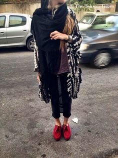 Iranian street fashion. The red creepers are the cherry on top! Tehran's Street Style - Imgur