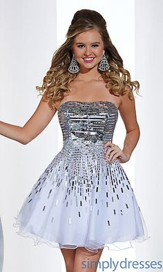 Short Strapless Dress by Hannah S at SimplyDresses.com