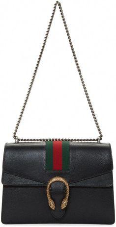 083f9577703e GUCCI Black Medium Dionysus Bag.  gucci  bags  shoulder bags  leather   canvas  lining    Guccihandbags