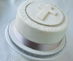 single tier christening cakes - Google Search