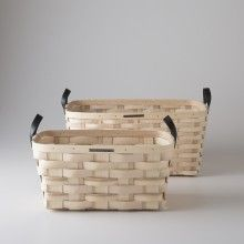 White Ash Baskets - Rectangle