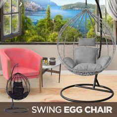 Porch Styles, Diy Furniture Renovation, Swinging Chair, Egg Chair, Patio Chairs, Home Hacks, House Floor Plans, Home Decor Accessories, Girl Room