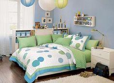 blue teen room design for girls